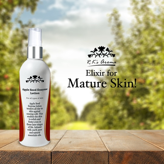 R.K's Aroma's Apple Seed Enzyme lotion bottles up the goodness of the apple seed enzyme along with chamomile, lavender and neroli essential oils to help mature skin stay hydrated and supple during the winters! Have you tried it yet?   Link: http://rkaroma.com/shop/skin-care-range/apple-seed-enzyme-lotion-60ml/