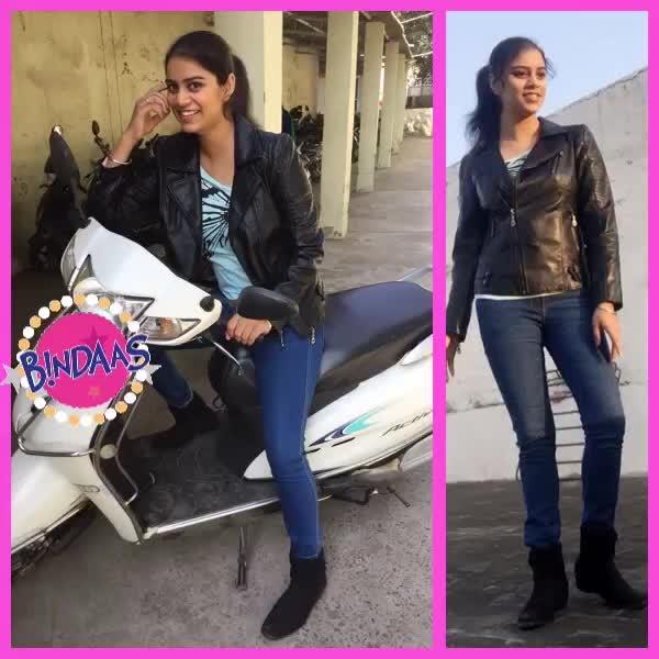 #leatherjacket #jeanslove #bootslove #winterlookbook #celebrity #celebritylook #glamup #action #bikerjacket #fauxleather #december2017 #decemberphotochallenge #hotness #diva #feminine #bindaas
