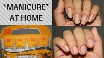 *MANICURE* AT HOME using VLCC manicure pedicure kit | Enaildiaries