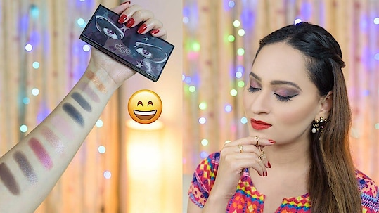 Quick Glam Christmas Tutorial Using Ciate London India Products  Since you guys loved the Instagram mini tutorial on how to ace that shimmery Christmas look a lot, I decided to bring for you all a detailed look tutorial plus product review of all the latest launches by Ciate London India. Christmas is the last festival of the year and it symbolizes happiness, peace and joy. Keeping in sync with the holiday cheer, this glam doll smokey shimmery eyes and red lips look will lift up your party mood in a jiffy.