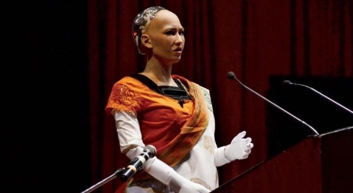 Robot host amazes people by giving a speech in IIT Bombay. The robot was draped in a saree and gave a speech in Hindi https://www.flairtales.com/draped-saree-special-woman-robot-world-presented-speech-hindi-iit-bombay/  #flairtales #blog #news #technology #trending #robots #IIT #Bombay #saree #india #indian #makeinindia #hindi #language #languagelearning #host #speech #message #women #follow #share #like #comment #daily #life #lifestyle