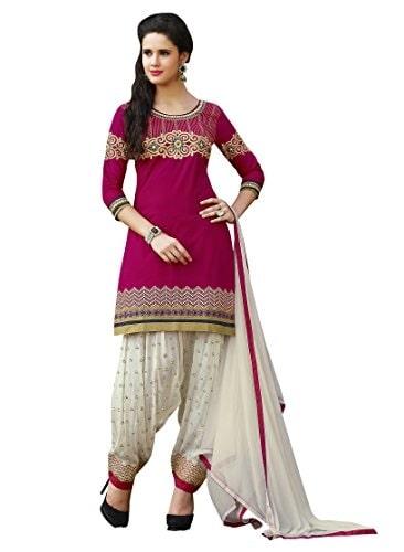Sheknows Women Cotton #Patiala #Suit unstitched #dress material @ Rs.1399. Buy Now at http://bit.ly/2AijQg3