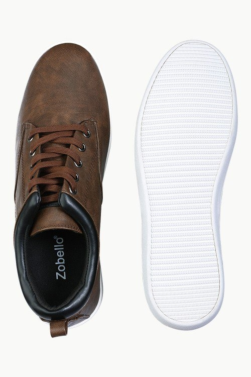 Faux Leather Urban Plimsolls - Just Rs.1,649.00/- Only at #zobello   Shop Now @ http://bit.ly/2EyKDYQ  #sneaker shoes