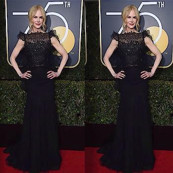Nicole Kidman at Golden Globe Awards last night. #gown #redcarpet #international #celebrityfashion #hollywood #goldenglobeawards