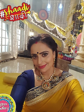 countdown begins...yellow #saree  with contrast colored #blouse   for haldi cermony in  #tenikishaadi  #parth  se in #dilsediltak   on #colorstv  10pm daily #indianwedding #shaadishaadi