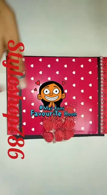#handmade #gift #valentinesday #bae #love  #couplegoals   my new handmade album best for Valentine gift for info visit my account on Instagram @styloshop786   we deliver all over India #maiapnifavuritehoon