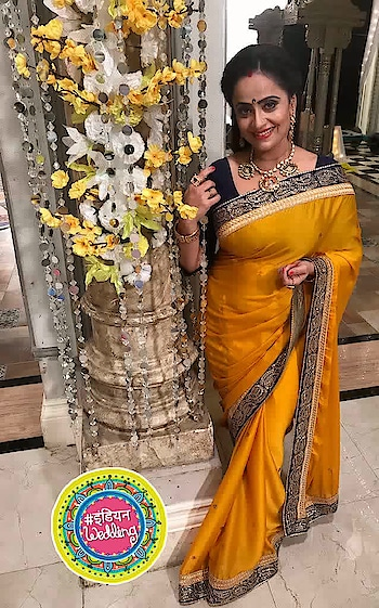 countdown begins...yellow #saree  with contrast colored #blouse   for haldi cermony in  #tenikishaadi  #parth  se in #dilsediltak   on #colorstv  10pm daily #indianwedding #shaadishaadi #indianwedding
