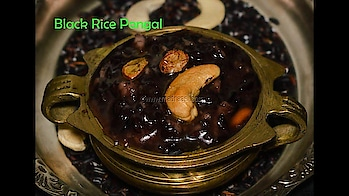 BlackRice Pongal recipe / Kavurni Arisi Pongal recipe in pressure cooker | Pongal special  Black rice is known as forbidden rice or emperor's rice, as it has loads of health benefits and is used only for emperors. It has little chewy and sticky texture and so its perfect for preparing dessert.  #madraasi #immadraasi #recipes #food #foodblogger #pongalrecipes #vegetarian #madraasirecipes #madraasirecipes #blackrice #kavuniarisipongal #sweetpongal #cooking #youtuber #youtubevideo #follow #bangaloreblogger #tamilcuisine