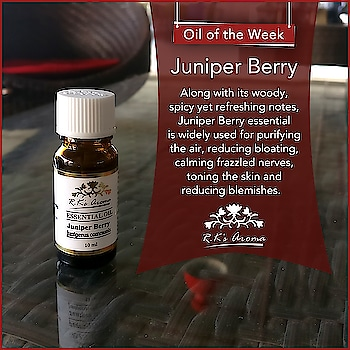 Our #OilOfTheWeek is good for the atmosphere in your house as well as your skin! Get your own R.K's Aroma Juniper Berry essential oil today!