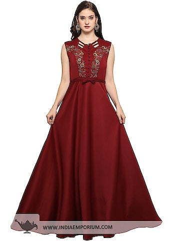 Amazing Maroon Scuba Hand Work Party Wear Gown with Net Dupatta  @@@ https://goo.gl/m2MnRr  #ilovewinters #myjam #menonroposo #bae #designer #tamil #wednesdaywoot #humpday #dance #beauty #life #look #bindass #youtuber #mylifemychoice #indian #food #music #black #soulfulquotes #fashionblogger #cute #hahatv #celebration #roposolove