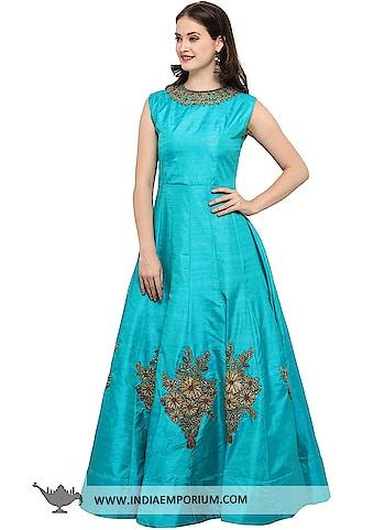 Charming Mastani Silk Sky Blue Hand Work Gown with Net Dupatta  @@@ https://goo.gl/i96YKb  #ilovewinters #myjam #menonroposo #bae #designer #tamil #wednesdaywoot #humpday #dance #beauty #life #look #bindass #youtuber #mylifemychoice #indian #food #music #black #soulfulquotes #fashionblogger #cute #hahatv #celebration #roposolove