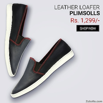 Faux Leather Slip-On Plimsolls - Just Rs.1299/- Only   Shop Now @ http://bit.ly/2z3sLpl  #Mens_Loafers_Shoes - Get the wide range of #loafers_shoes_for_mens at the best price in India. Select from the various designs and styles of #loafers_shoes_online available at #Zobello.