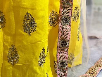 Yellow haldi lehenga For order call/whatsapp: 9321219977 Price : 1299/- + Shipping  *Lehnga : Banglory silk * *Colour  : Yellow * *Work    : Embroidery * *Type     : Semi-Stitch * Flair.     : 3 MTR  *Blouse : Banglory Silk * *Colour : Yellow * *Work   : Embroidery * Type.   : Material Sleeve : Half sleeve Size.    : XXL - 44  Duppta : Heavy Net Colour  : Light Peaches *Work     : Four Side Embroidery Lace work On Duppta *  Price : 1299/- 🌟🌟🌟🌟🌟  Quality Ek Level Up  Reddy To Ship ☑✈  Code - PO #lehengacholi #lehenga  #embroidered #weddingcollection #bridalwear #fashionblog #lifestyleblog #weddingcollection #sale #storeadda #roposo-style #roposogal #weddingwear #weddingdress #ethnicwear #clothing #blogger #haldiceremony #weddingdress #croptop #croptoplehenga #embroideredfabrics  #hevayworkedlehenga #heavyquality   #selfie #ropo-style #ropo-love#roposo-style#trends
