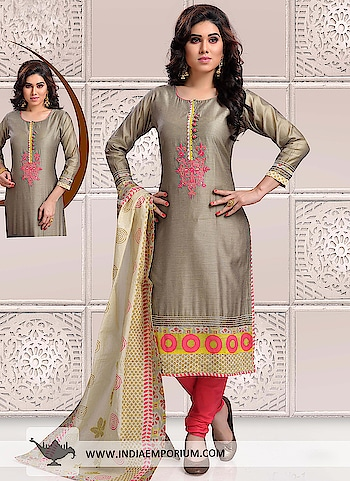 Lavish Gray & Red Chanderi Cotton Churidar Suit  @@@  https://goo.gl/cBuruF  #pongal2018 #fastival #makarsakranti #happylohri #weekend #roposoblogger #weekendvibes #happy #ropo-good #nirdoshonroposo #bonfirenights #ropo-love #ropo-style #fun #indian #blogger #soroposo #beauty #photography #bollywood #roposolove #bollywood #roposolove #telugu #model #fashionblogger #partystarter #filmistaan #fashion #celebration #goodvibes #love