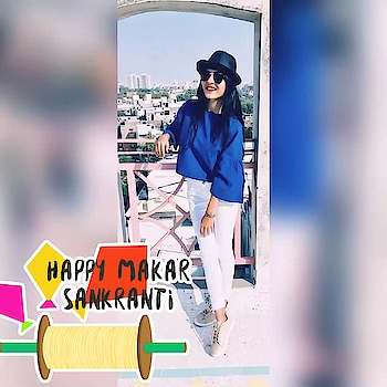Uttrayan Vibes✨ #roposo #roposogal #roposome #featureme #featurethis #makarsankranti2018 #summer-looks #instablogger #fashionbloggerstyle #ahmedabadfashionblogger #lifestyleblogger #bloggerdiaries #bloggersofindia #bloggerlove #fashion_trends #followforfollow #followme #followformore #followmeonroposo #ohsheblushes #happymakarsankranti