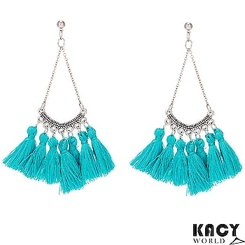 KACY's Blue Tassel Earrings 💦 Just For INR 299/- Free Shipping, COD Available 🛒🛍️ Extra 5% off on Online Payments 💵💸💱💲📭 #newarrivals #kacyworld #kacy #kacyjewellery #fashionjewelleryonline #earrings #tasselearrings Shop Here : https://kacyworld.com/product/blue-tassel-earrings/