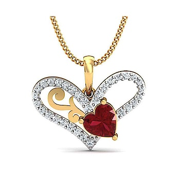 Diamond Musical Pendant (Without Chain) for your Valentine #valentinesgift   Buy Here: http://bit.ly/2EOs4iG
