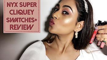 NYX SUPER CLIQUEY MATTE LIPSTICK SWATCHES AND REVIEW #lipstick #lipstickswatch #indianyoutuber #beautyblogger #bblogger #bloggers #fashionblogger #makeup #mua #makeupartist #makeupblogger