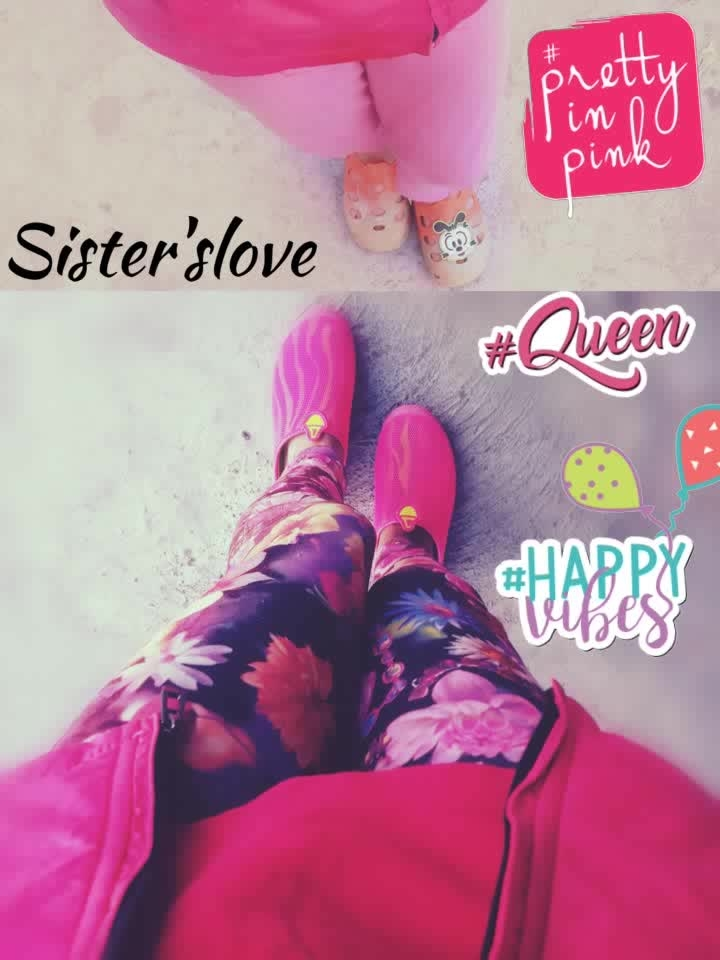 sister'slove # click with my lil sis #queen #happyvibes #prettyinpink