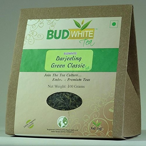 Budwhite Darjeeling Green Classic Tea - 100 G Loose    Green tea refreshes the body and mind and has a low content of caffeine Studies show that 4-6 cups of green tea a day speeds up metabolism and reduces stored fat, lowers cholesterol levels,   Buy Link- https://www.amazon.in/dp/B075J9RZ1Z  #tea #greentea