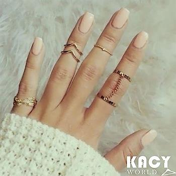 KACY's Gold MIdi Rings ( 6 Pcs Set) Just for INR 199/- New Arrivals 😍 Free Shipping, Cod Available 🛒 #newarrivals #kacy #kacyworld #fashionjewelleryonline #midirings #goldrings Shop Here : https://kacyworld.com/product/gold-midi-rings/