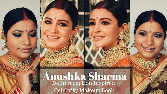 Anushka Sharma Delhi Reception Look Inspired Celebrity Makeup Tutorial Episode 12