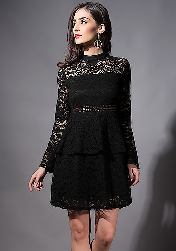 Make Heads Turn Wearing Stunning Lace Dress SHOP Lace Dress - https://goo.gl/qEwGMi  Black Tiered Lace Dress ₹ 2600  @fab_alley   #faballey #women-clothing #roposo #fashion-addict #loveyourself #beauty #styles #love #followme #like #fashion #trending #fashionblogger #be-fashionable #designer #bindas #Welcome2018 #Western #LaceDress #new #newarrivals #newin #newfashion  #instafashion #instalove #roposofashion #indian