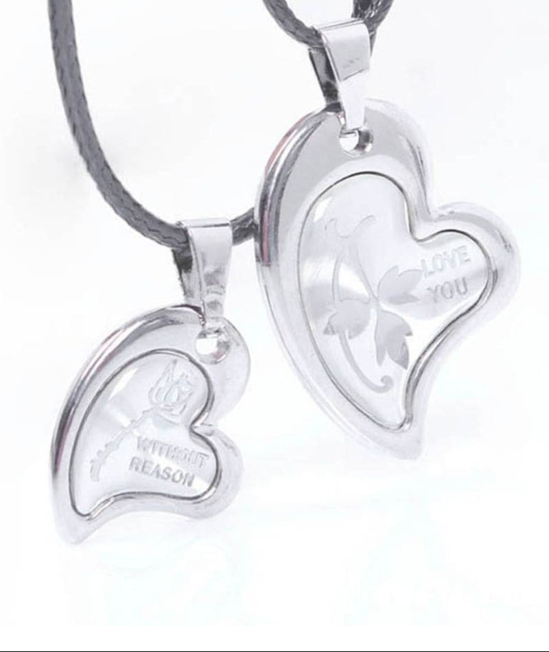 Young & Forever Silver Non-Precious Metal Pendant Necklace Combo For Women.  The very essence of every relationship is sharing and what better way to express it then through a sharable love necklace which you will both wear? She will have a piece of your heart and you will have a piece of hers - literally. So Just Buy & Make Your Day Special.  #necklace #necklaceset #necklaceoftheday #necklaceforsale #necklacelove #necklacedesigns #necklace-set #necklacefashion #necklaceaddict #necklacedesign #necklacelover #necklaceshop #necklacefordays #valentine #valentinesday #valentine's #valentine #valentines #valentines style #valentine gift #valentine's day #valentine's day! #valentine special #followmeonroposo #letsnacho #soroposo #life #makeup #jhakkas #queen #roposo-style #model #roposolove #sunglasses #blogger #celebration #styles #fashion #ropo-love #cheers #like #soulfulquotes #followme #bindaas #newdp #hahatv #marathi #filmistaan #bollywood #beats #loveyourself #roposogal #roposo