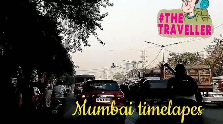 traveling from Mumbai - Mumbai Time lapse.... #MadFoodies #thetraveller