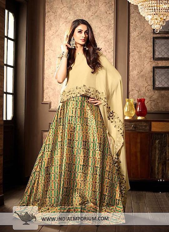 Smashing Beige & Multi Colour Silk Embroidered Long Choli Lehenga  @@@ https://goo.gl/UYkd4S  #followmeonroposo #letsnacho #soroposo #life #makeup #jhakkas #queen #roposo-style #model #roposolove #sunglasses #blogger #celebration #styles #fashion #ropo-love #cheers #like #soulfulquotes #followme #bindaas #newdp #hahatv #marathi #filmistaan #bollywood #beats #loveyourself #roposogal #roposo