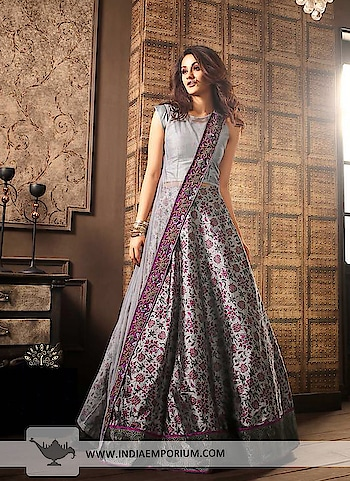 Fantabulous Gray Silk Embroidered Long Choli Lehenga  @@@ https://goo.gl/W5nz4P  #followmeonroposo #letsnacho #soroposo #life #makeup #jhakkas #queen #roposo-style #model #roposolove #sunglasses #blogger #celebration #styles #fashion #ropo-love #cheers #like #soulfulquotes #followme #bindaas #newdp #hahatv #marathi #filmistaan #bollywood #beats #loveyourself #roposogal #roposo