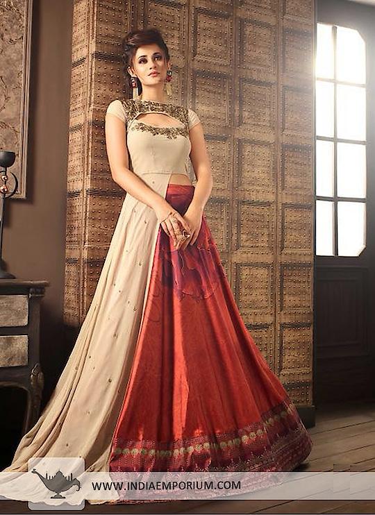 Lovely Cream & Maroon Silk Embroidered Long Choli Lehenga  @@@ https://goo.gl/ycvPuF  #followmeonroposo #letsnacho #soroposo #life #makeup #jhakkas #queen #roposo-style #model #roposolove #sunglasses #blogger #celebration #styles #fashion #ropo-love #cheers #like #soulfulquotes #followme #bindaas #newdp #hahatv #marathi #filmistaan #bollywood #beats #loveyourself #roposogal #roposo