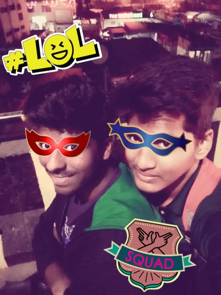 It's bettr 2 hav a friends😘🤗 thn 2 hav a lovers😫👻 b'coz  a lover forgt u, but a frnd never forget u....😍😘 #mask #mask #squad #laughingoutloud