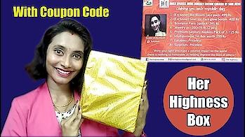 HER HIGHNESS BOX   January 2018  Discount Code   ₹599  Smile Sparkle Shine Edition  SahiJeeth