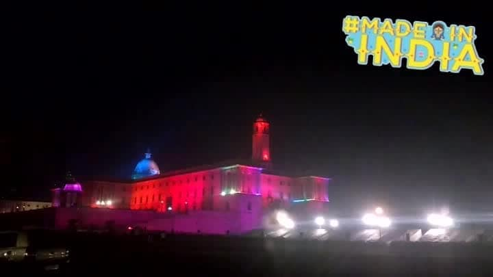 North Block during Republic Day week. #Indian#NorthBlock #RashtrapatiBhawan #SouthBlock #Lights #Decor #madeinindia