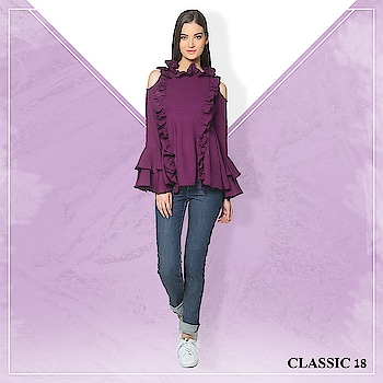 Frills and cold shoulders! What more does one want? Wear this pretty top with jeans and high heels to look as fabulus as ever! #top #purple #outfits #dailywear #casualwear #casual #summerwear #dailywear #westernoutfits #ootd #potd #ootn #style #lookoftheday #getthelook #lookbook #instadaily #fashion #summercollection #trendy #instafashion #follow #pictureperfect #keepitsimple