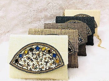 Craftstages International presents to you the exclusive ethnic clutch in jute with stone and bead work (Only WHOLESALE) We can also Make, Customize,export & Import all style of Bags & Clutches with Quantity.#ethnicclutch #indianmade #madeinindia #qualitybags #easytocarry #variationincolors #durable #jute #stonework #beadwork any Wholesale queries please call or whatsapp at +91-8882376001(ONLY WHOLESALE) or you can mail us at : craftstagesinternational@gmail.com