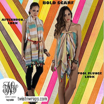 Bold Scarf   Shop now this beautiful 100% linen yarn dyed scarf with multicolor fringe from our clearance . Hurry since left with last units   https://www.twistnwraps.com/product/bold-scarf  #bold #multicolor #linen #scarves #tnwscarf #twistnwraps #shopnow #so-roposo #springfashion #ootd #followme #roposogal #fashionblogger #stylebloggerindia