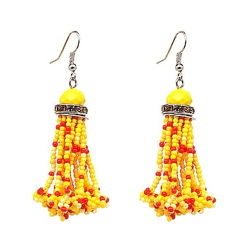 Match these beautiful #Yellow #Red #Beads #Drop #Earrings with your dress and get a lovely & outstanding look.  Buy now at: https://buff.ly/2n01ewF  #dropearrings #fashion #jewellery #roposostylist #ethnicdesigns #feelingmyself #summer-fashion #fashionfreak4all #fashion_news #be-fashinable #fashiongram #fashioncrab.com