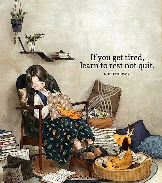 Learn to rest, not to quit! #MondayMotivation