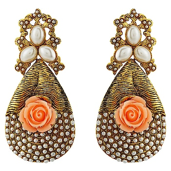 Gold Plated Stylish Fancy Party Wear Pearl Traditional Earrings For Women & Girls from the house of Silveria ... For purchase just click on the link given here:-  http://amzn.to/2Dr0B6z #earringset #womenaccessories #ornaments #jewelleries #earrings #jhumke  #letsnacho #jhakkas #queen #celebration #bindaas #followme #beauty #fashion #love #styles