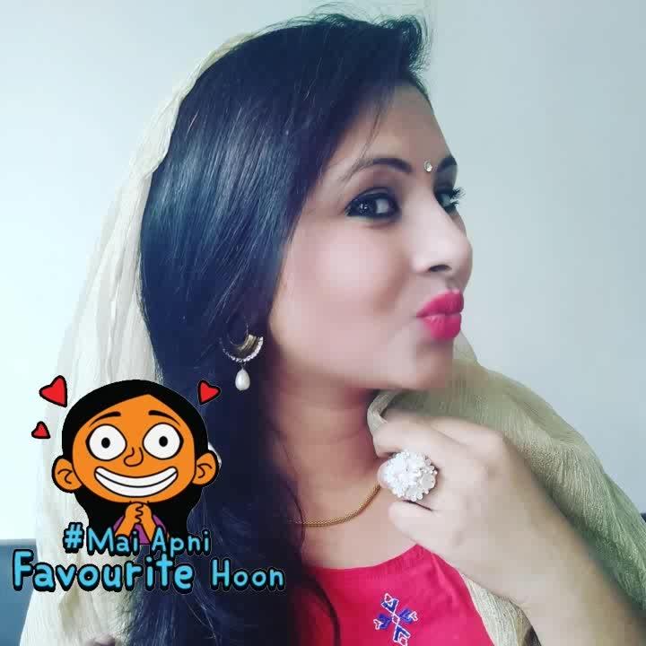 #funmood #makeup #makeupjunkie #dailypost #girls #ropo-girl #roposogal #roposo #roposostyle #roposostyleblog #stickers #beauty #ropo-beauty #different-is-beautiful #makeupinspiration #red #maiapnifavuritehoon