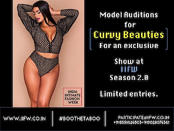 While the report says 73% women in the world are obese, there lies the biggest business opportunity. This opportunity would need right ambassadors to carry it & showcase on the IIFW Ramp.  Inviting gorgeous curvy ( plus size ) models ( Indian & International ) to enroll.  Interested models can call us to get further information or send their profiles on  participate@iifw.co.in  / +919028076361 / +918551026503   #IIFW #IIFWIndia #IndiaIntimateFashionWeek #CurvyModels #PlusSizeModels #CurvyLingerie #PlusSizeLingerie #Lingerie #IntimateFashion #ModelAuditions #IIFWModelAuditions
