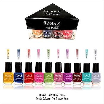 Synaa Nail Polish Multicolor Set of 10 pieces (SET 3). Trendy colors. Made from finest lacquers. Chip resistant.   Shop online @ https://synaa.com/products/synaa-multicolor-nail-polish-set-3-10-pieces  #synaa #nailpolish #multicolornailpolish #nailcolors #nailenamel #naillacquer #nailshades