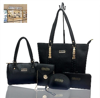 ⚡JIMMI CHOO⚡ TOP QUALITY BAGS  SYNTHETIC MATERIAL 5 PCS COMBO AT JUST 1500  NOTE BEST PRICE OFFER