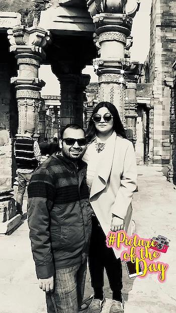 #qutubminar #historical #lovelyday #brightsunnyday #pictureoftheday
