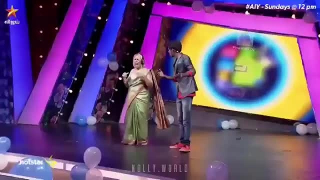 #tamil #hahatv #tamil reality show #vijaytelevisionshowevent   #adhuidhuedhu show #foreigner sings tamil song  #not able to guess what song is that
