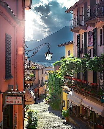 Bellagio, Como Lake. Source: İlhan Eroğlu #italy #italia #lake #wonderfulplaces #beautifuldestinations #earthpix #village #sun
