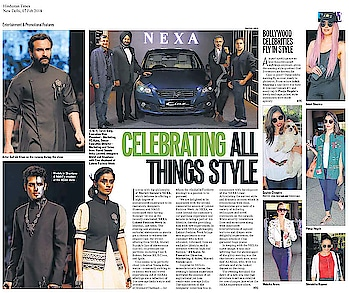 We spot #poojahegde wearing #shahinmannan in #hindustantimes Mumbai edition today!!