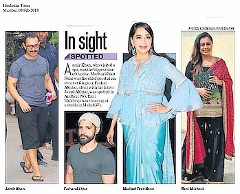 Spotted: #madhuridixit wearing #ridhimehraofficial in today's #HindustanTimes 😍